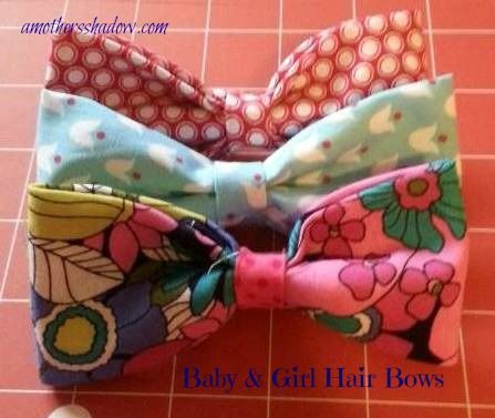 Homemade hairbows - great gift idea!  AMothersShadow.com #giftidea
