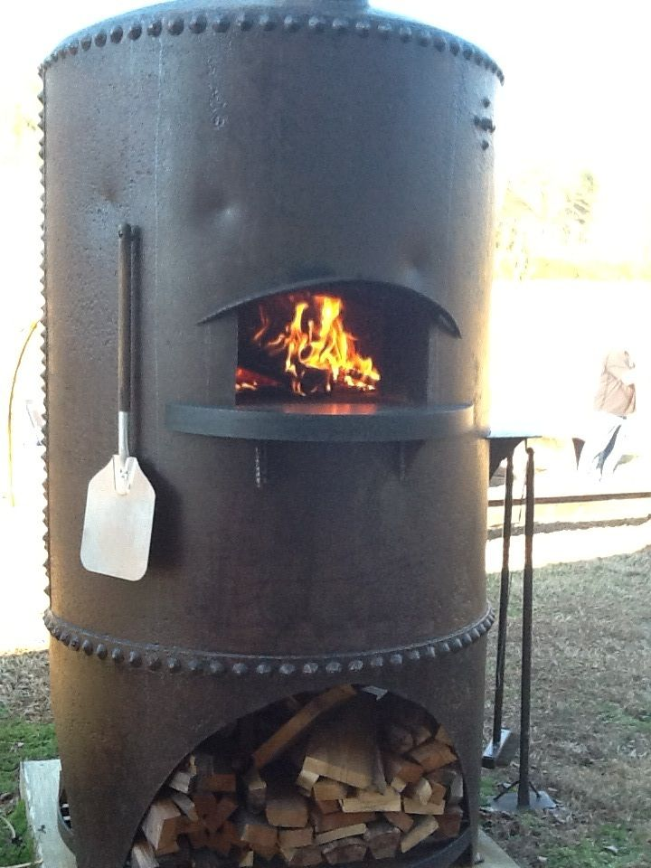 Pizza Oven Created Out Of A 100 Year Old Boiler Tank Oak