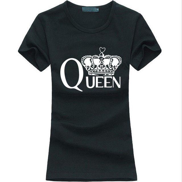 """""""Queen"""" Printed Women's Slim T-Shirt"""