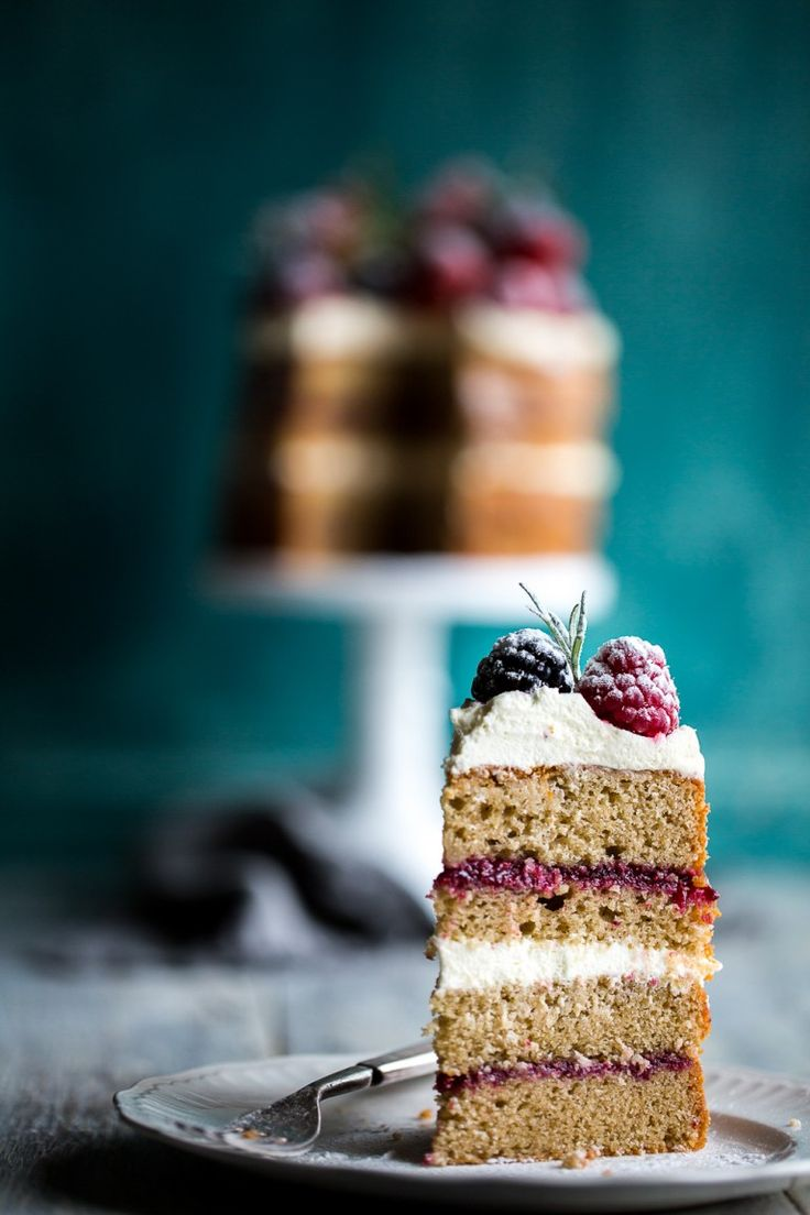 Buckwheat Cake with Berry Compote & Love, Aimee x Giveaway |Cygnet Kitchen