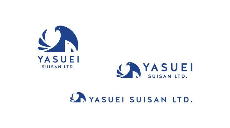 yasuei02 保栄水産 シンボル・ロゴ  長崎は、松浦市鷹島にてトラフグをメインとした魚の養殖をされています。シンボルは鷹。そして雛鳥を育てるように手間ひまかけて魚を育てているイメージを組み合わせました。 CL:有限会社保栄水産 AD,D:吉村隆治
