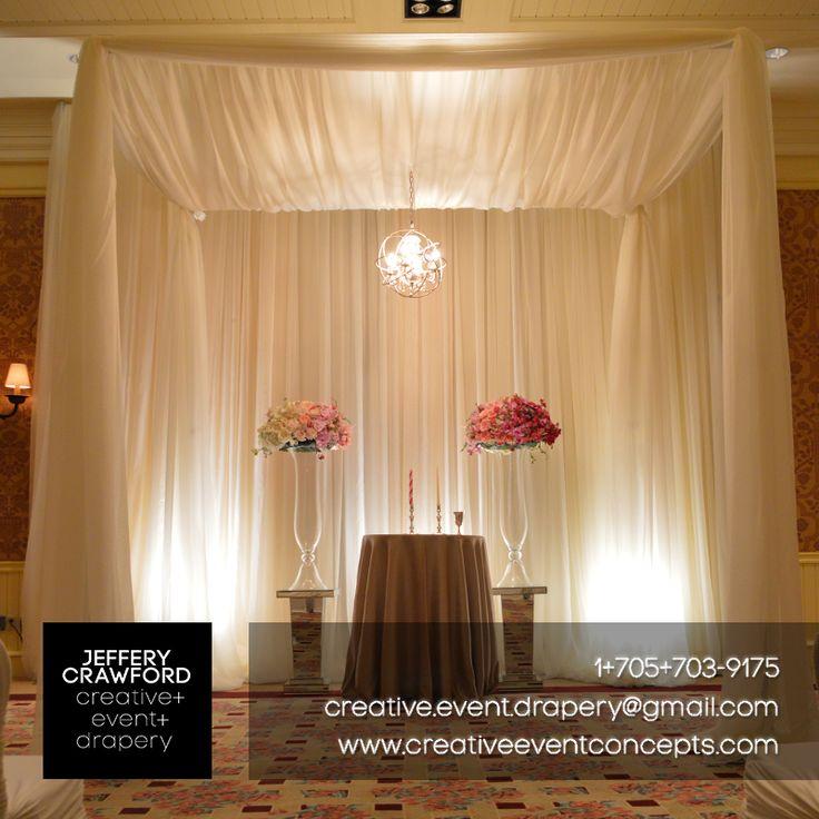 #Chuppahs   Jeffery Crawford #Creative #Event #Drapery   creative.event.drapery@gmail.com   www.creativeeventconcepts.com #Muskoka #Toronto #EventDrape #EventDrapery #TentDraping #CeilingDraping #Backdrops #WeddingBackdrops #ChairCovers #Lighting #AisleRunners #EventCarpet #Design #Decor #Wedding #Weddings #SpecialEvents #Events #MuskokaWedding #TorontoWedding #MuskokaWeddings #TorontoWeddings #WeddingProfs #EventProfs