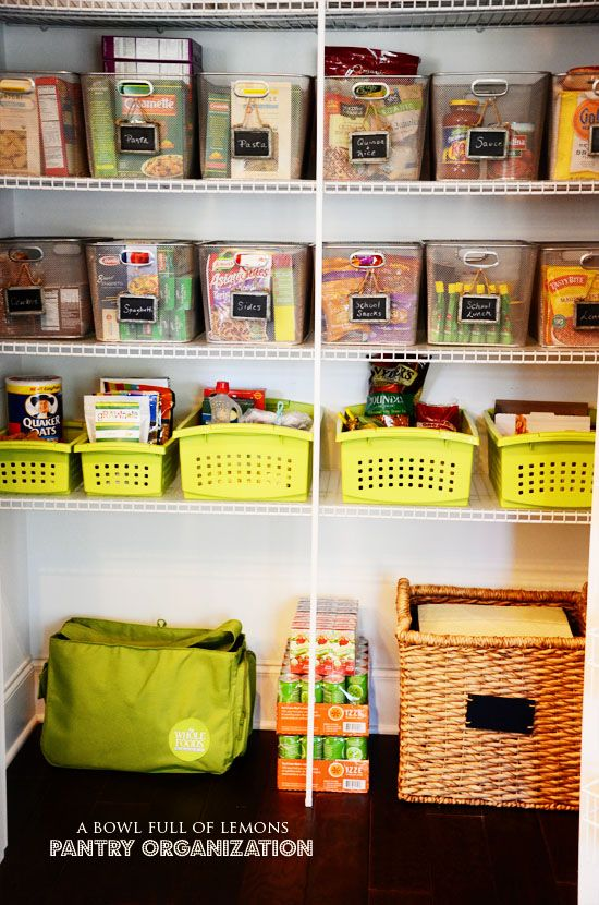 Get Inspired with this post on how to organize your pantry from A Bowl Full of Lemons. Love the categories and methods on how to organize everything!