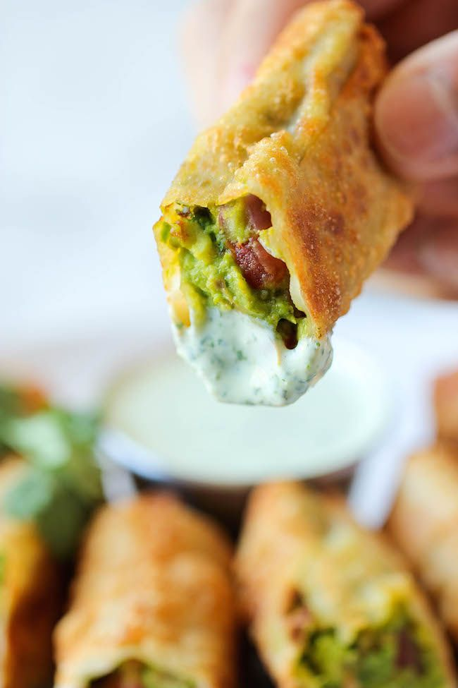 Cheesecake Factory Avocado Egg Rolls - Damn Delicious
