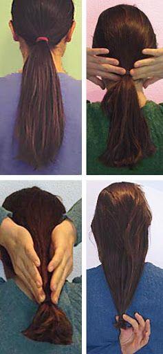 Haarknippen: Zelf lang haar knippen
