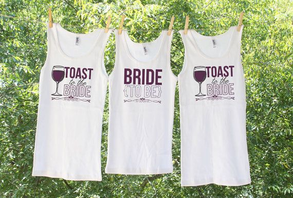 Wine Themed  Toast to the Bride Bachelorette by nestingprojectwed