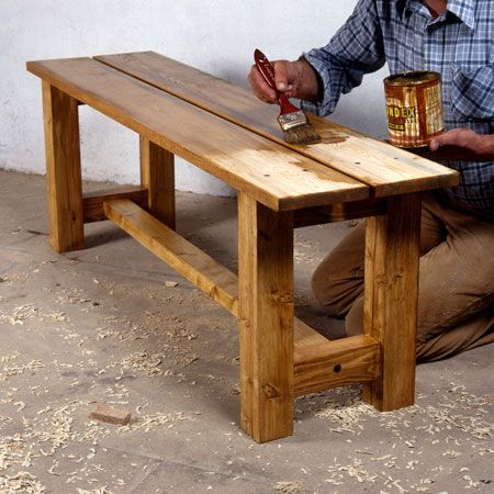 how to make a solid wood bench