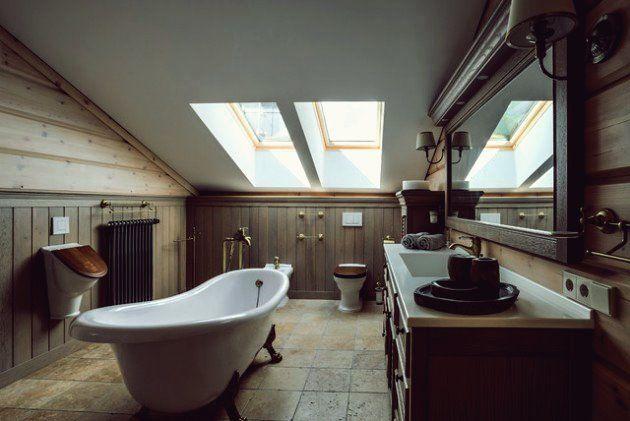 17 Erstaunliche Rustikale Bad Entwurfe Die Sie Bequem Fuhlen Lassen Rustikale Bader Bad Design Badezimmer Rustikal