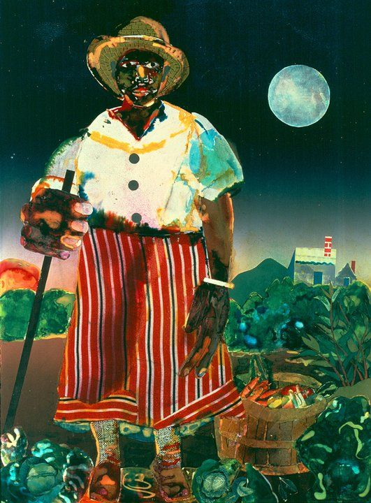 Romare Bearden, Sunset And Moonrise-Maudell Sleet by Romare Bearden - 1978