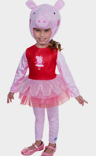 peppa pig super deluxe toddler tutu costume - Girls Halloween Costumes For Kids