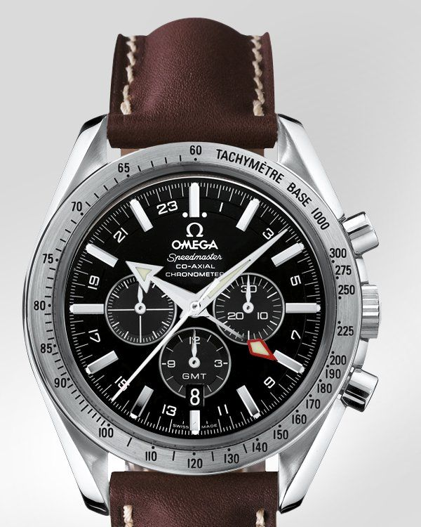 Omega Speedmaster Broad Arrow GMT Co-Axial Chronograph Watch