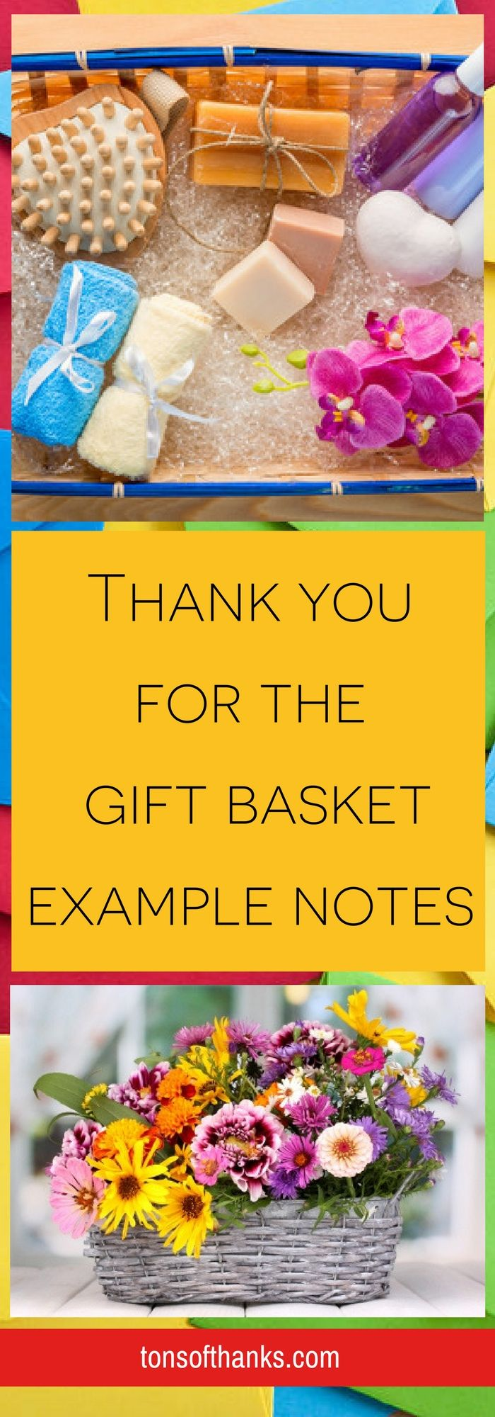 Thank you for the gift basket example