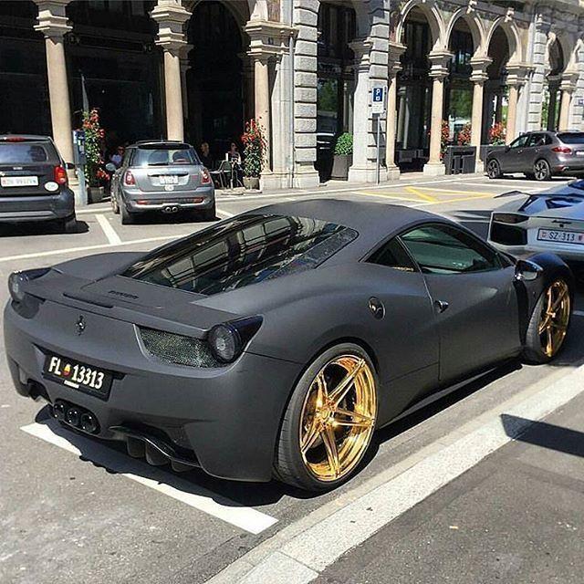 Murdered Ferrari 458 sitting in gold! #luxury #luxurylifestyle #richlifestyle. #rich #wealth #prosperity #cash #cars #passion #dreams #goals. #Get your #6figures #income #secret http://wealthyguru.com