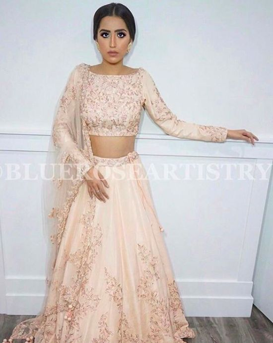 Our gorgeous model is dressed in a one of a kind lehenga designed by #Wellgroomedinc! ✨ Are you looking to start the design process of the bridal outfit of your dreams? Or that showstopping party wear piece? Email us at sales@wellgroomed.ca to set up a free consultation.