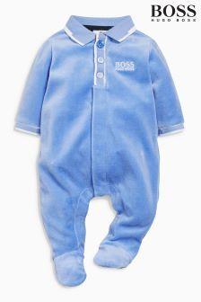 Modré velurové dupačky Hugo Boss Baby- 2175Kč Next