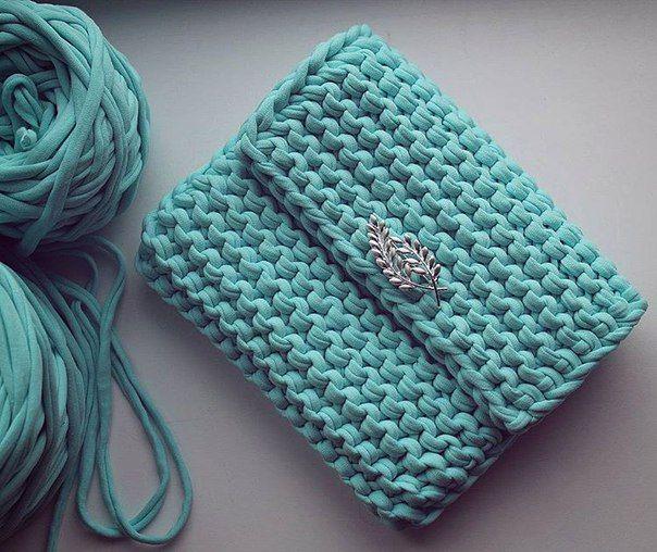 tyarn bag , сумка из трикотажной пряжи