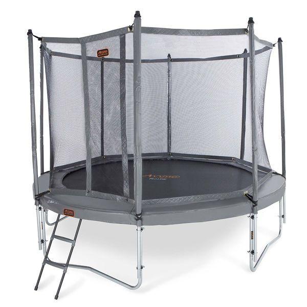 Trampoliini Pro-line Pro harmaa combo-paketti - Todella hyvä trampoliinipaketti lapsille