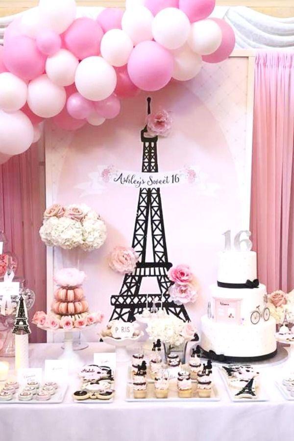 French Parisian Birthday Party Ideas Photo 5 Of 6 In 2021 Parisian Birthday Party Sweet 16 Parties Sweet Sixteen Party Themes