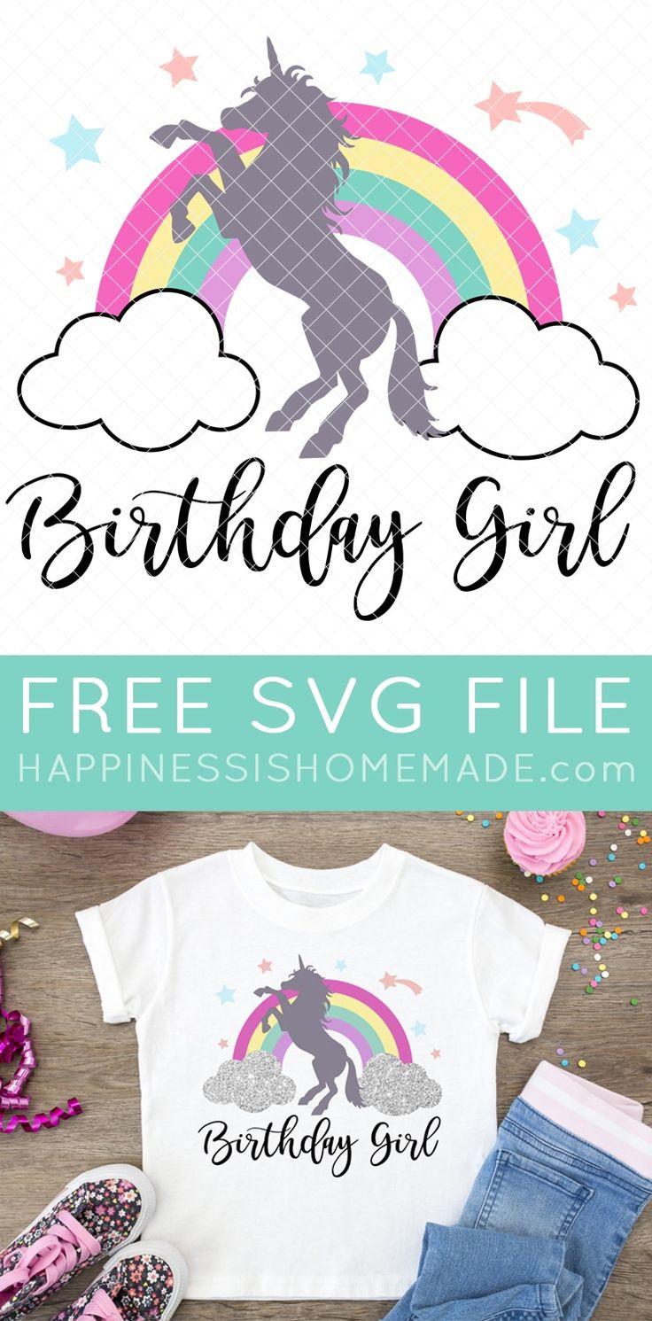 Free unicorn svg birthday girl shirt unicorn birthday