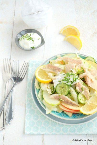 venkel appel salade gerookte forel