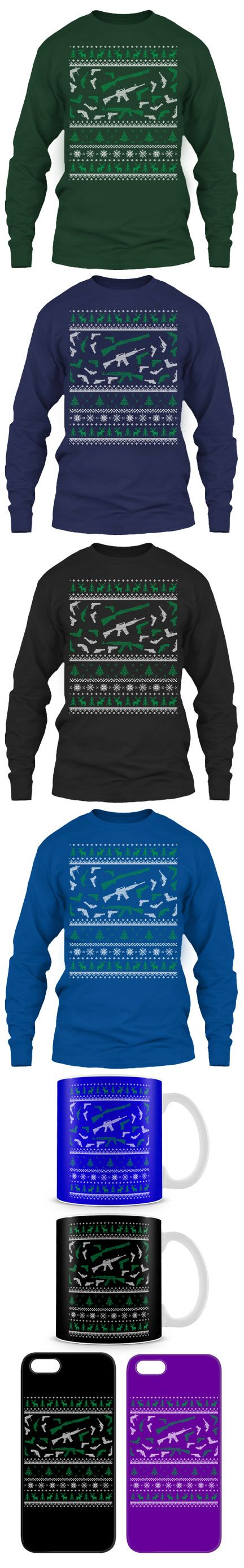 Guns Ugly Christmas Sweater! Click The Image To Buy It Now or Tag Someone You Want To Buy This For.