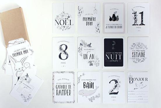 """Cartons souvenirs à photographier """"mes débuts """" carton fonds blanc –…  – Baby"""