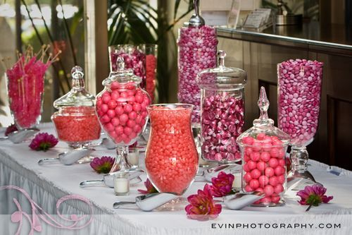 candy buffet: Candybuffet, Candy Buffet, Candy Bars, Wedding Ideas, Candy Table, Bar Ideas, Pink, Party Ideas, Baby Shower
