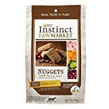 Nature's Variety Instinct Raw Market Grain Free Freeze Dried Chicken Recipe Nuggets for Dogs, 15 oz. Bag