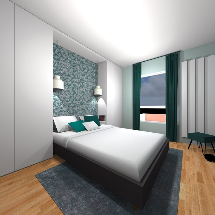 chambre t te de lit dressing luminaires bleu papier. Black Bedroom Furniture Sets. Home Design Ideas