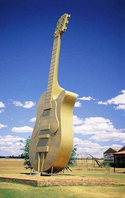 Giant Guitar. Tamworth, NSW, Australia