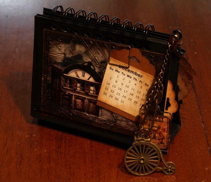 A Dellamortika steampunk Desk Calendar V2 sample page.