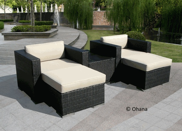 Beautiful Ohana Outdoor Patio Wicker Furniture Sectional 5 Pc Set. $1,279.00