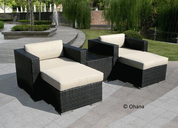 Beautiful Ohana Outdoor Patio Wicker Furniture Sectional 5 Pc Set.  $1,279.00 #outdoorfurniture #patiofurniture #ohana | Pinterest | Wicker  Furniu2026