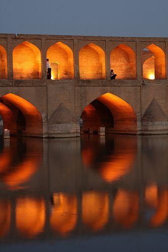 Si-o-Seh Bridge, Esfahan, Iran (by Rowan Castle)