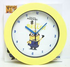 Minions Despicable Me Bedroom | DESPICABLE ME 2 MINION WALL CLOCK 10 INCH NEW BOXED GIFT KIDS BEDROOM