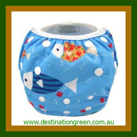 Swim Nappy - fish NEW, $16.00 one, size fits most, fully adjustable #reusableswimnappy #swimnappy, #swimmingnappy #clothswimnappy