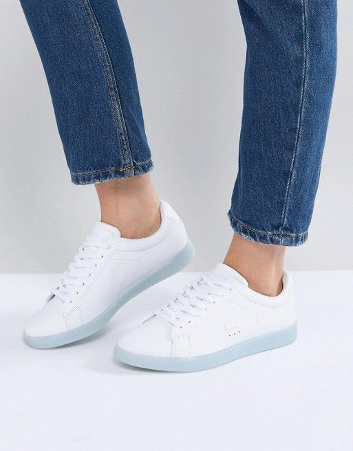 9049825b0b7881 Lacoste Carnaby Evo 118 3 White With Blue Sole