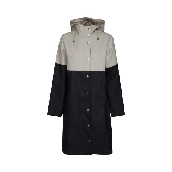 Ilse Jacobsen True Rain raincoat - dark indigo - milk creme