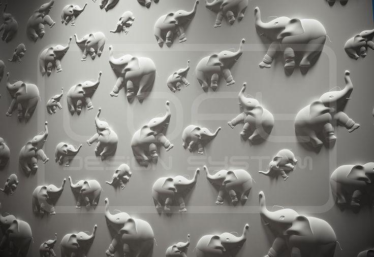 Model 14 - elephants, Słoniki, pokój dziecięcy.  Kliknij zdjęcie by uzyskać więcej informacji lub aby przejść na naszą stronę internetową.