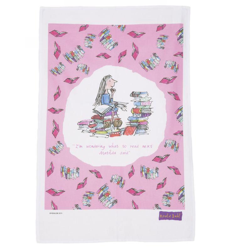 Roald Dahl Matilda Quote Tea Towel