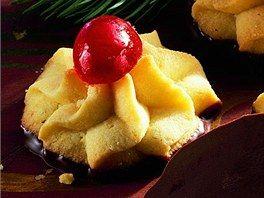 Máslové stříkané cukroví.