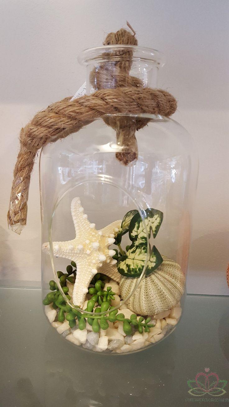 Goedkoop bloemschikken schelpen knutselen creatief trouwen bruidsboeket