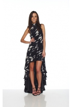 Wayne Cooper - Hi Neck Up Down Dress. Borrow for $179 p/w