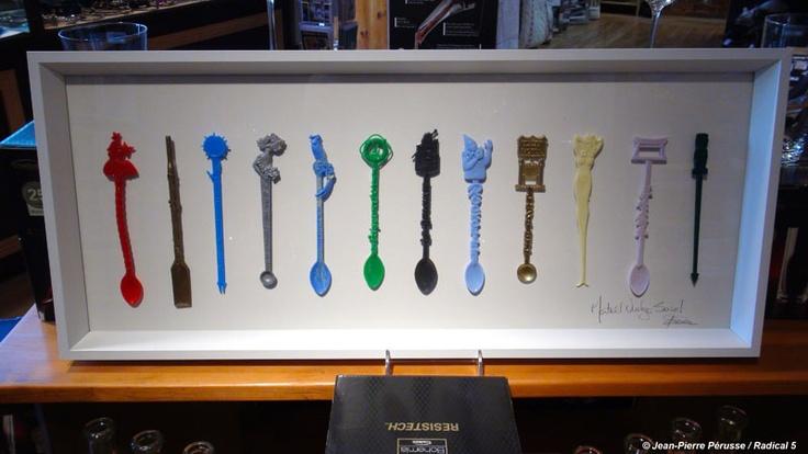 Montréal Vintage Swivel by Jean-Pierre Pérusse:: $129   Collection de ''swivel stick'' de Club et Bar Montréalais disparus!  12 différents ''swivel stick'' vintage par tableau !  Tableau en nombre limitée!  Tous unique avec différente combinaison de ''swivel stick'' vintage !