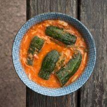 Conserva de pepino com kimchi
