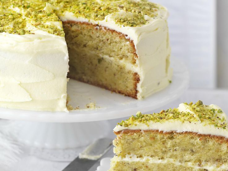 Pistachio and rosewater layer cake