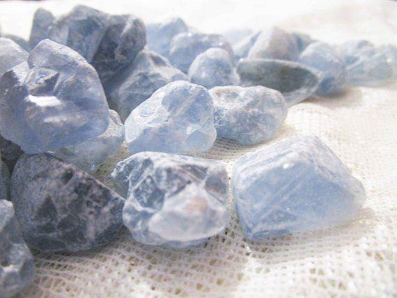 Raw Celestite Crystals Rough Celestine Gemstones Throat Etsy Celestite Crystal Celestite Blue Crystals