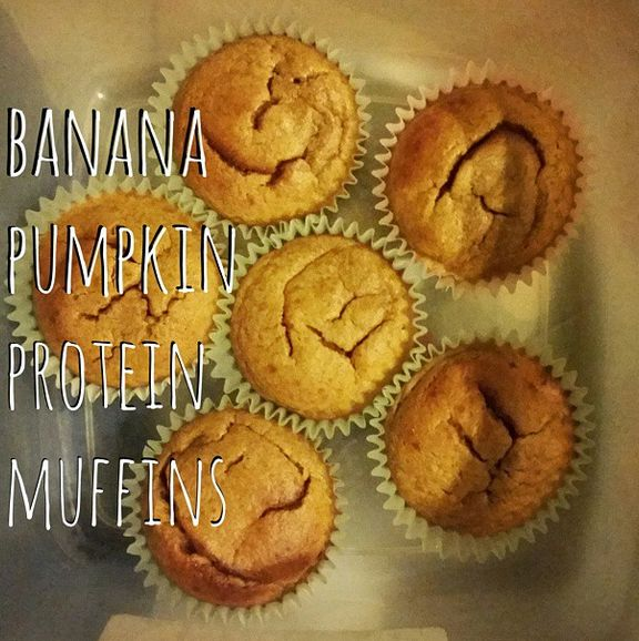 Banana Pumpkin Protein Muffins shared by miss_lyssi! 1/2 cup almond butter, 1/4 cup pumpkin, 1 banana, 1 scoop of vanilla Perfect Fit Protein, 1 egg, 1 egg white, 3 tbsp maple syrup, 1/2 tsp cinnamon, 1/4 tsp nutmeg, 1/2 tsp baking powder, and 1/4 tsp sea salt. Mix all ingredients together. Bake at 350 degrees for 15-18 minutes or until golden brown!