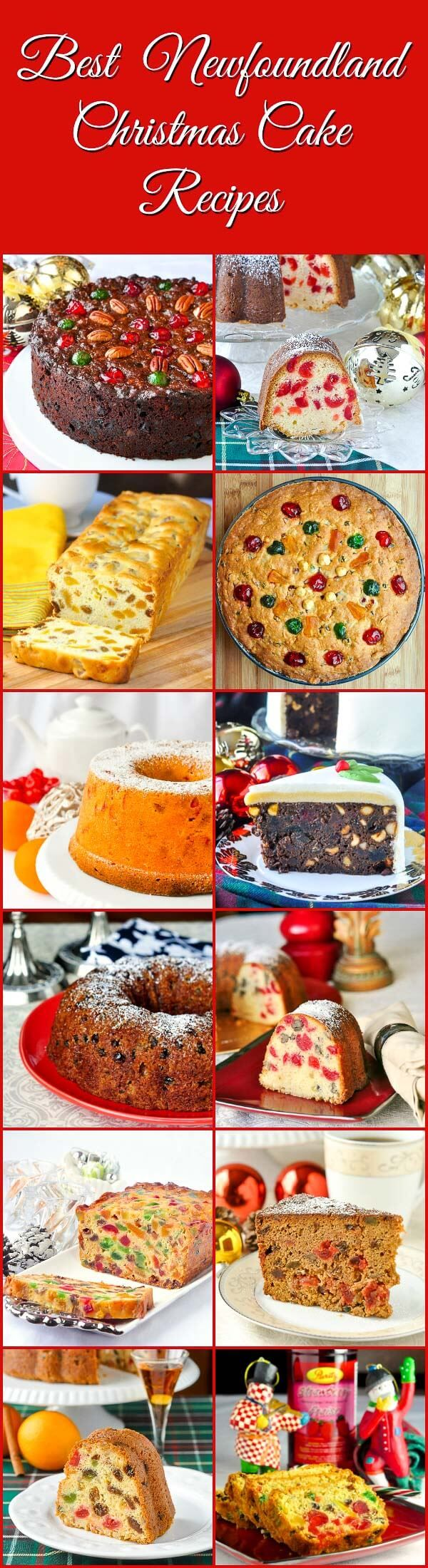 Best Newfoundland Christmas Cake Recipes - a collection of some favourite recipes from my childhood plus new twists on tried & true traditional fruitcake.