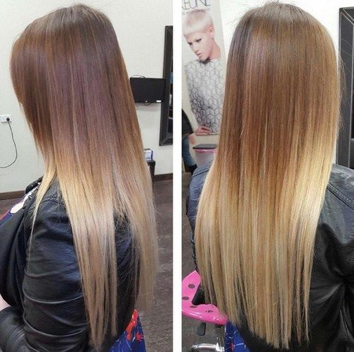 light+brown+to+blonde+ombre+for+long+straight+hair